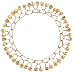 1960s Nanna Ditzel for Georg Jensen Gold Necklace