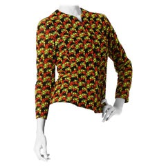 1960S Net Neon Embroidered With Silk Lining  Jacket