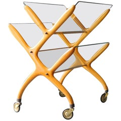 1960s Newspaper & Magazine Rack by Cesare Lacca for Cassina / Mid-Century Modern