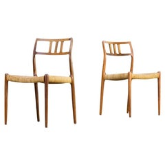 1960s Niels Otto Møller Model 79 Chairs for J.L Moller