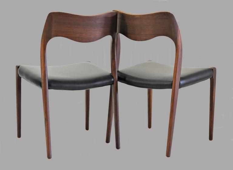 Scandinavian Modern 1960s Niels Otto Møller Twelve Teak Dining Chairs, Inc. Reupholstery