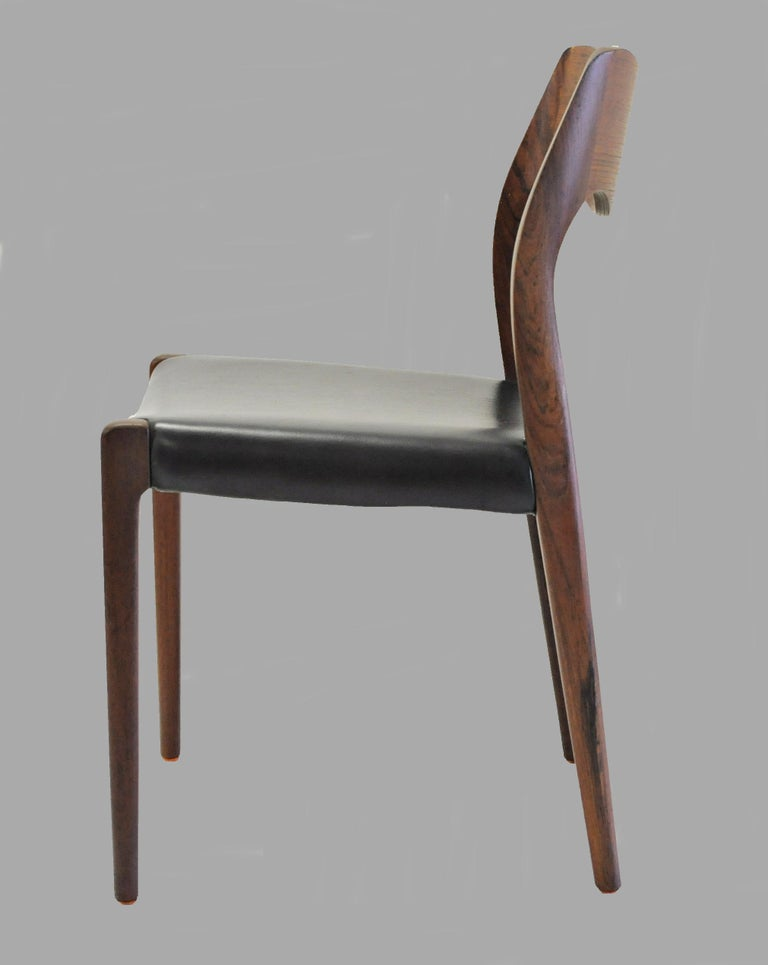 Mid-20th Century 1960s Niels Otto Møller Twelve Teak Dining Chairs, Inc. Reupholstery