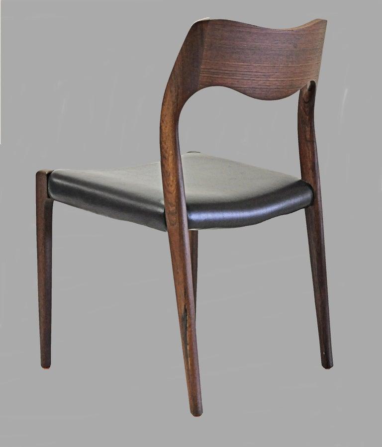 1960s Niels Otto Møller Twelve Teak Dining Chairs, Inc. Reupholstery 1