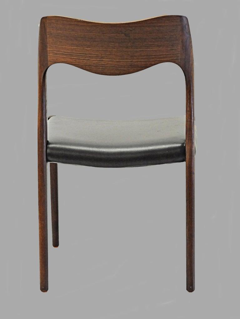1960s Niels Otto Møller Twelve Teak Dining Chairs, Inc. Reupholstery 2