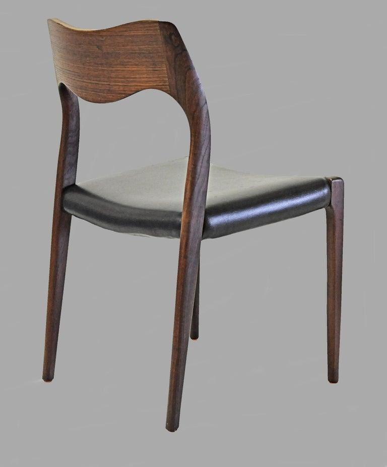 1960s Niels Otto Møller Twelve Teak Dining Chairs, Inc. Reupholstery 3