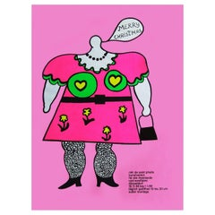 1960s Niki de Saint Phalle Pop Art Exhibition Poster Christmas