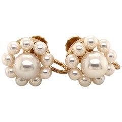 1960s Non Pierced Screw Back Akoya Pearl Earrings