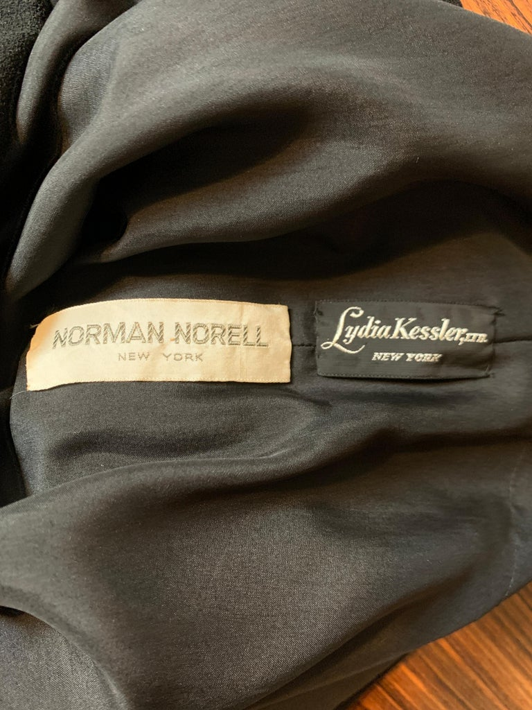 1960s Norman Norell Black Shift Dress with Patch Pockets and Ribbon Belt For Sale 4
