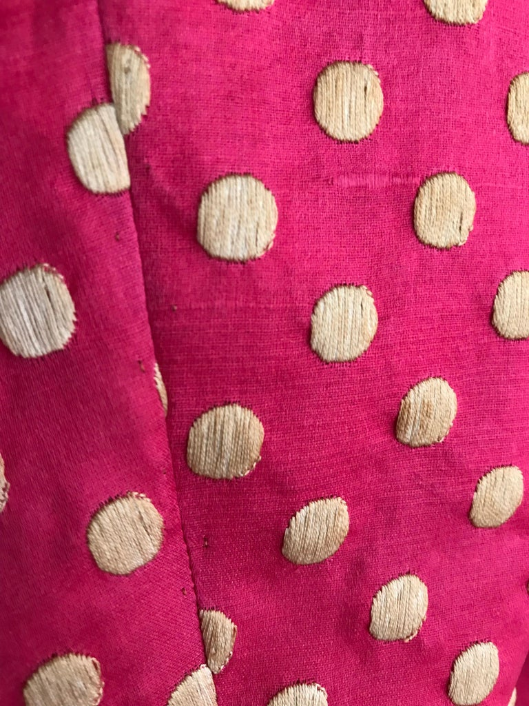 1960s Norman Norell Dark  Pink Silk Sleeveless Maxi  Dress  and Jacket  For Sale 2