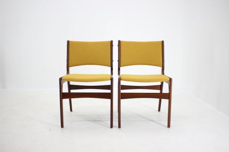 Mid-Century Modern 1960s Nova Mobler Danish Teak Dining Chairs, Set of 4 For Sale