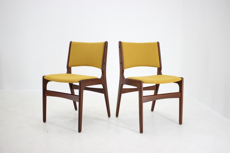 1960s Nova Mobler Danish Teak Dining Chairs, Set of 4 In Good Condition For Sale In Praha, CZ