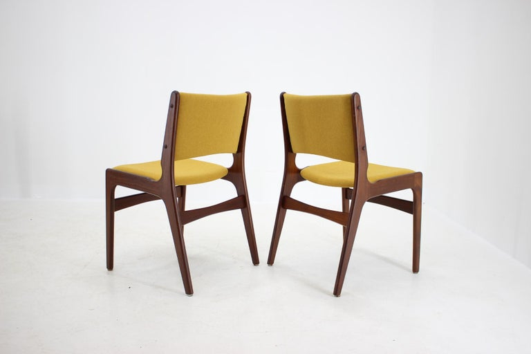 Fabric 1960s Nova Mobler Danish Teak Dining Chairs, Set of 4 For Sale