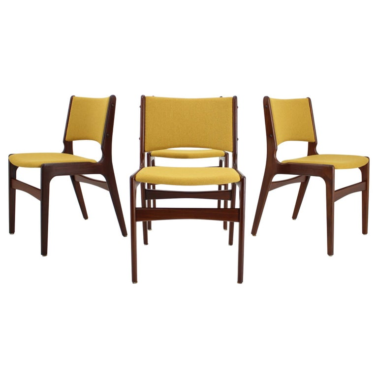 1960s Nova Mobler Danish Teak Dining Chairs, Set of 4 For Sale