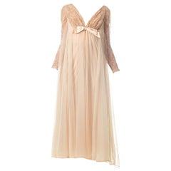1960S Nude Nylon Negligee