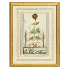 1960s NYC Waldorf Astoria Hotel Framed Print of Roman Palms by Filpo Morghenf
