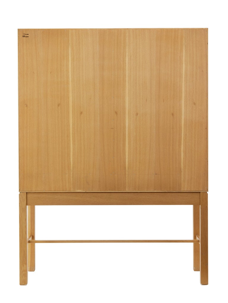 1960's Oak Cabinet on Stand by Gunnar Mystrand for Kallemo In Good Condition For Sale In Debenham, Suffolk
