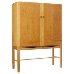 1960's Oak Cabinet on Stand by Gunnar Mystrand for Kallemo