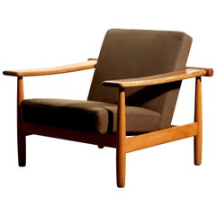 1960s Oak Lounge Chair, Denmark