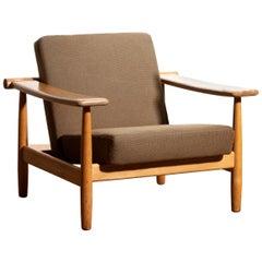 1960s Oak Lounge Chair Living Room Set from Denmark in GETAMA Style