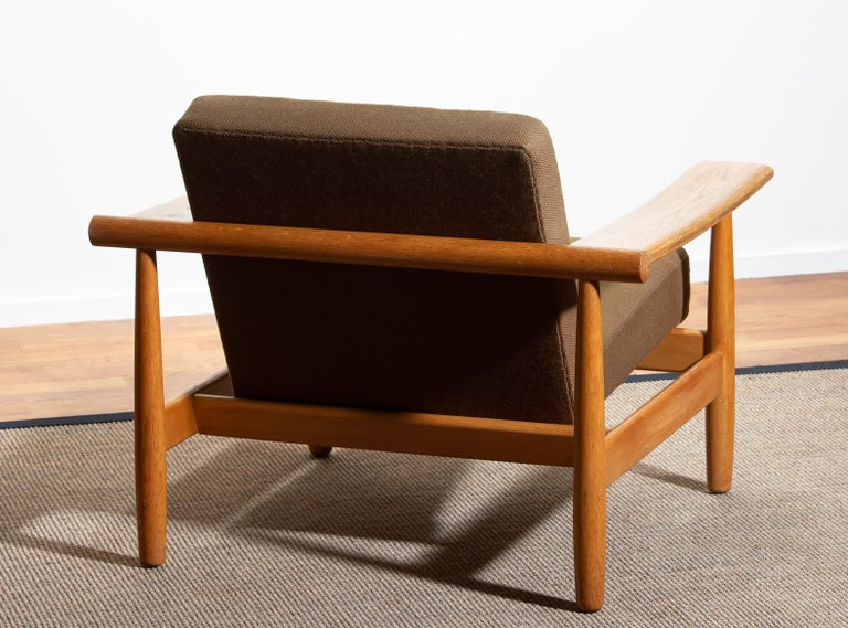 1960s Oak Lounge Chair Livingroom Set from Denmark in GETAMA Style For Sale 3