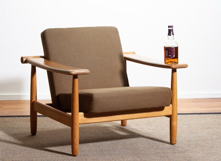 1960s Oak Lounge Chair Livingroom Set from Denmark in GETAMA Style For Sale 4