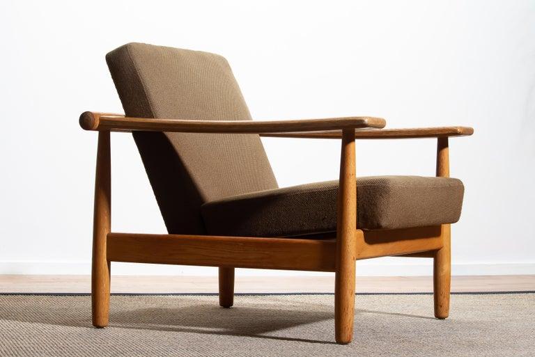 Scandinavian Modern 1960s Oak Lounge Chair Livingroom Set from Denmark in GETAMA Style For Sale