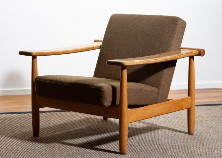 1960s Oak Lounge Chair Livingroom Set from Denmark in GETAMA Style In Good Condition For Sale In Silvolde, Gelderland