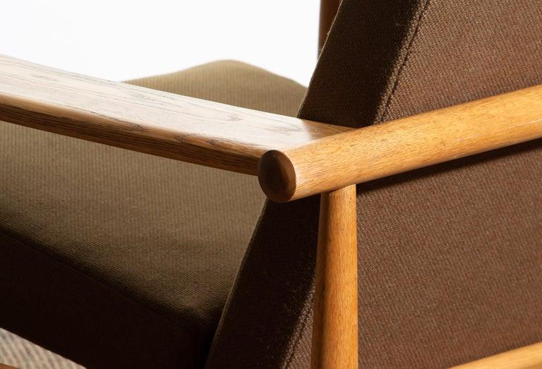 1960s Oak Lounge Chair Livingroom Set from Denmark in GETAMA Style For Sale 1