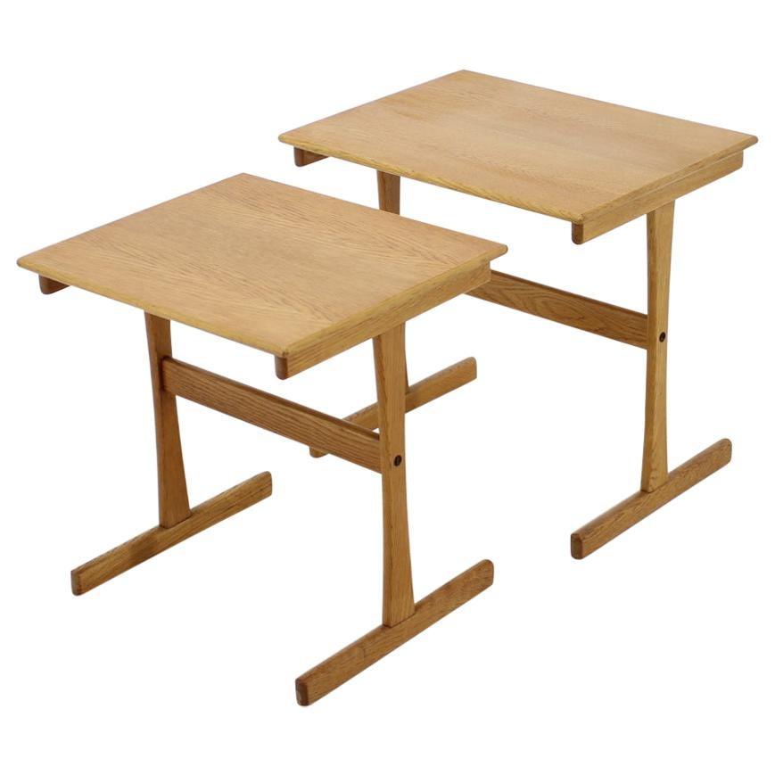 1960s Oak Nesting Tables Denmark