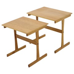 1960s Oak Nesting Tables Denmark