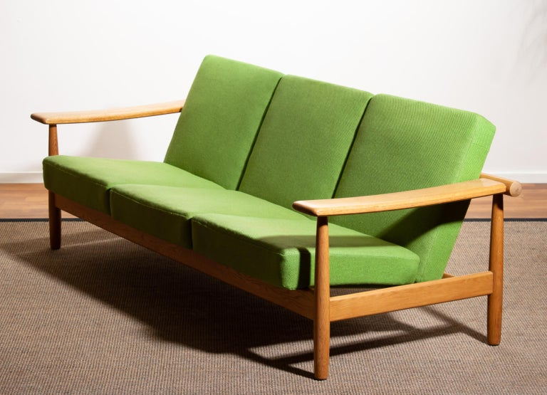 1960s, Oak Sofa and Lounge Chair or Living Room Set from Denmark 9