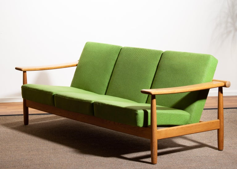 1960s, Oak Sofa and Lounge Chair or Living Room Set from Denmark 10