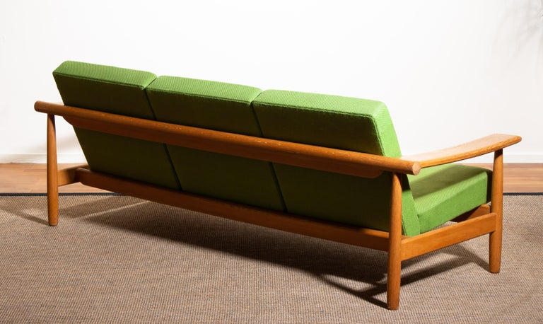 1960s, Oak Sofa and Lounge Chair or Living Room Set from Denmark 13