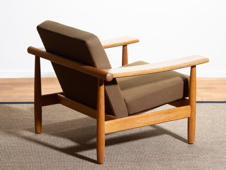 1960s, Oak Sofa and Lounge Chair or Living Room Set from Denmark 1