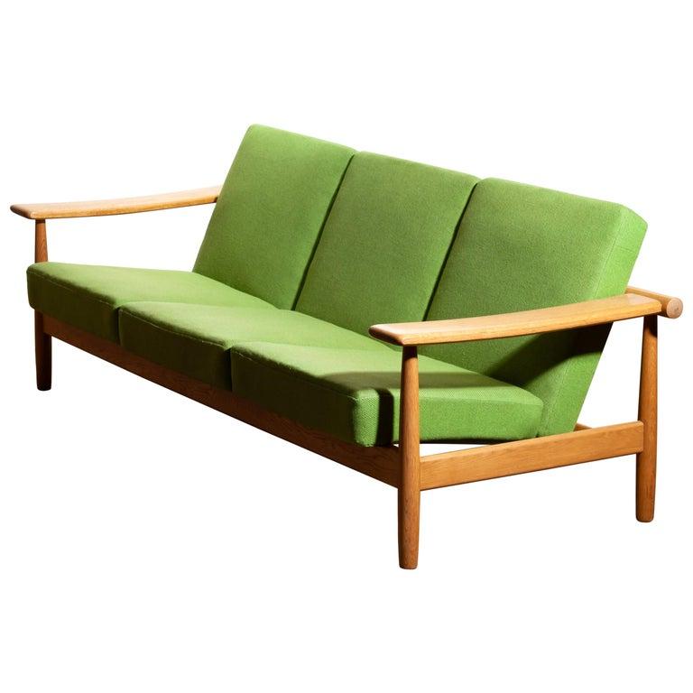 Scandinavian Modern 1960s, Oak Sofa from Denmark in GETAMA Style