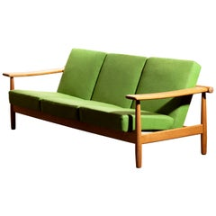 1960s, Oak Sofa from Denmark in GETAMA Style