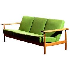 1960s, Oak Sofa from Denmark in GETAMA Style