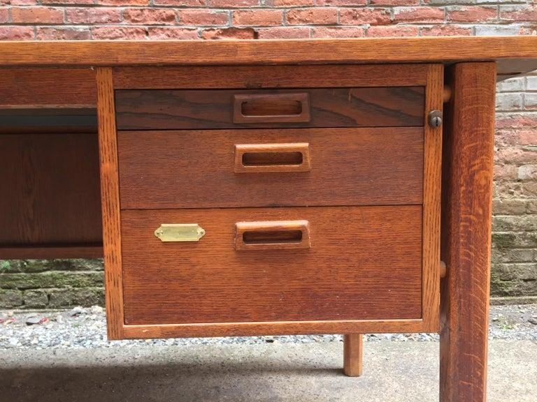 Bernt Petersen Oak and Laminate Desk For Sale 5