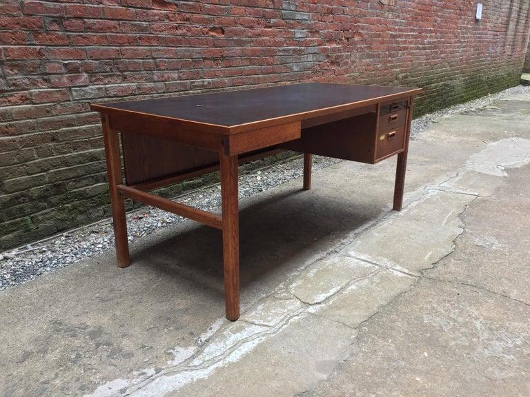 Scandinavian Modern Bernt Petersen Oak and Laminate Desk For Sale