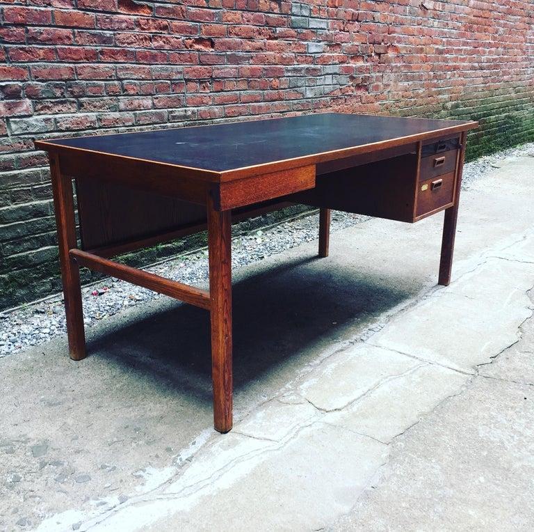 Swedish Bernt Petersen Oak and Laminate Desk For Sale
