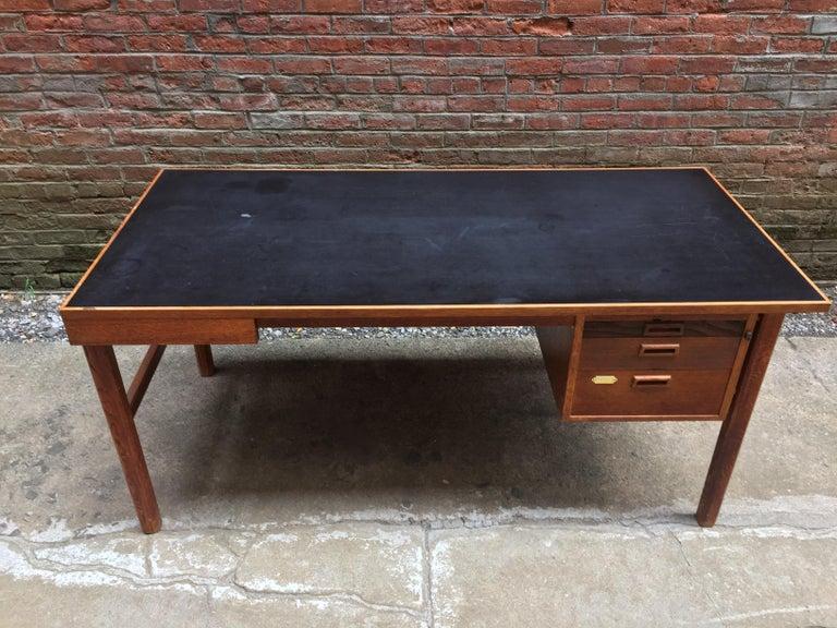 Mid-20th Century Bernt Petersen Oak and Laminate Desk For Sale