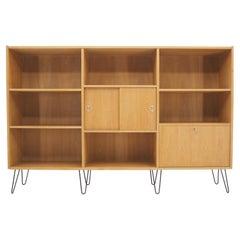 1960s Oak Upcycled Bookcase Cabinet, Denmark