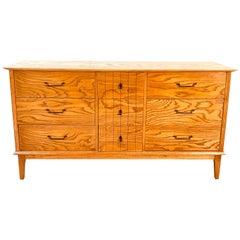 1960s Oakwood Dresser with Dark Grain