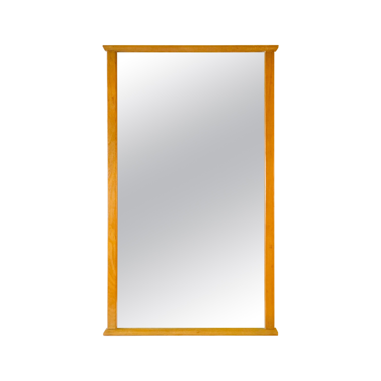 1960s Oakwood Wall Mirror