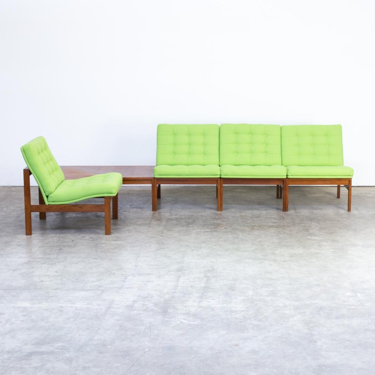 1960s Ole Gjerløv Knudsen & Torben Lind modular sofa for France & Son. Beautiful new upholstered. Very good condition consistent with age and use.