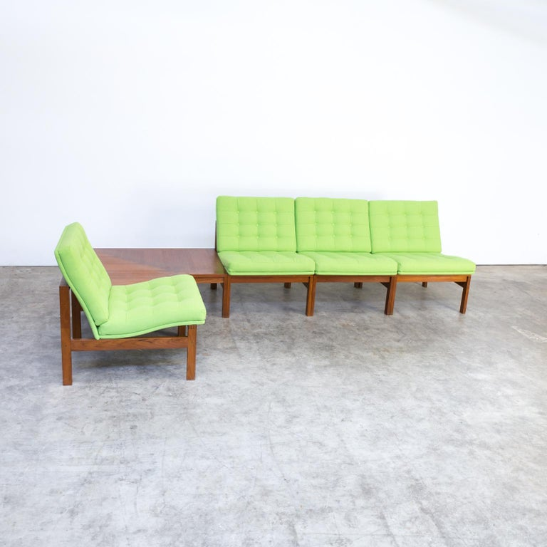 Danish 1960s Ole Gjerløv Knudsen & Torben Lind Modular Sofa for France & Son For Sale