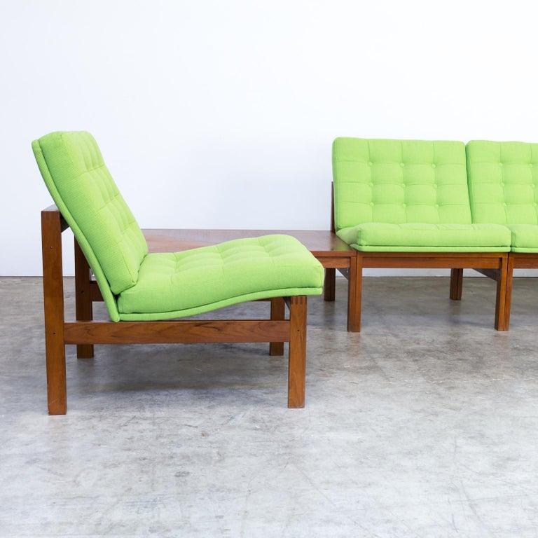 1960s Ole Gjerløv Knudsen & Torben Lind Modular Sofa for France & Son In Good Condition For Sale In Amstelveen, Noord