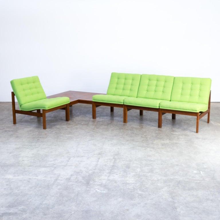 Fabric 1960s Ole Gjerløv Knudsen & Torben Lind Modular Sofa for France & Son For Sale