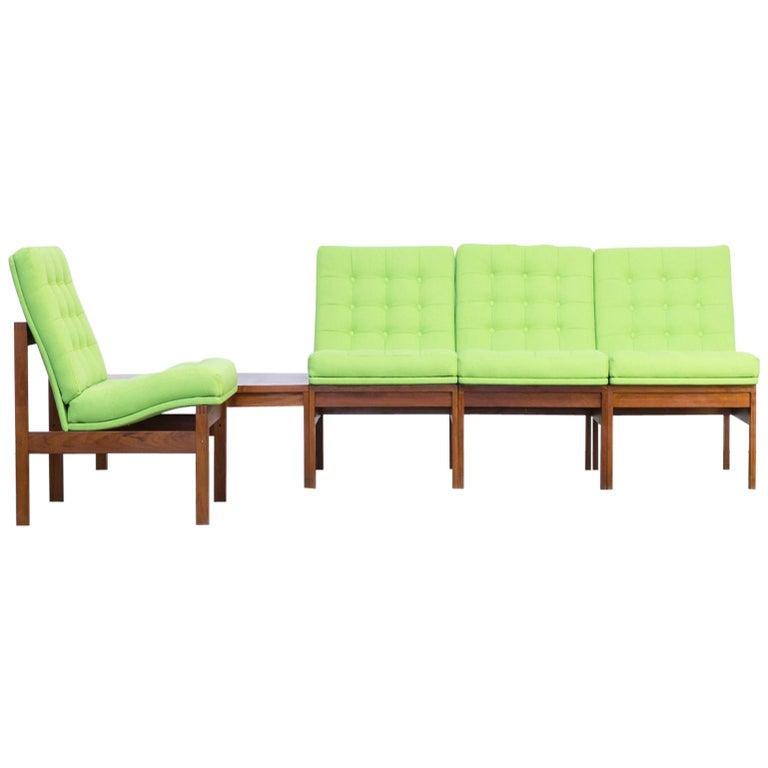 1960s Ole Gjerløv Knudsen & Torben Lind Modular Sofa for France & Son For Sale