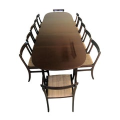 1960s Ole Wanscher Large Twelve Seat Mahogany Dining Set, Inc. Reupholstery